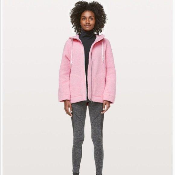 NWT Lululemon So Sherpa Hooded Jacket PINK Sz4